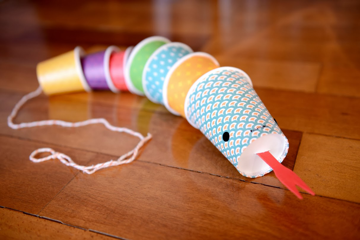 paper-cup-snake-craft-idea