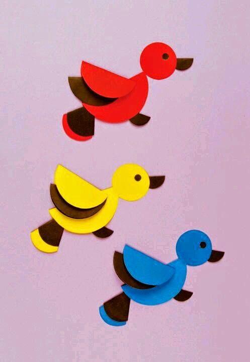 paper folding activities for bird preschool crafts. Black Bedroom Furniture Sets. Home Design Ideas