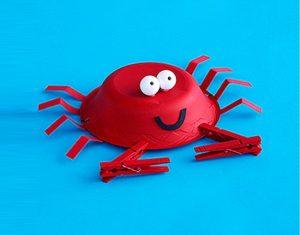 Crab Craft Idea For Kindergarten Preschool And Kindergarten