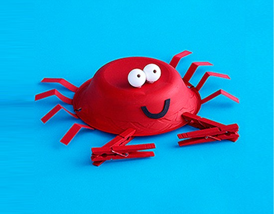 Crab Craft Idea for Kindergarten