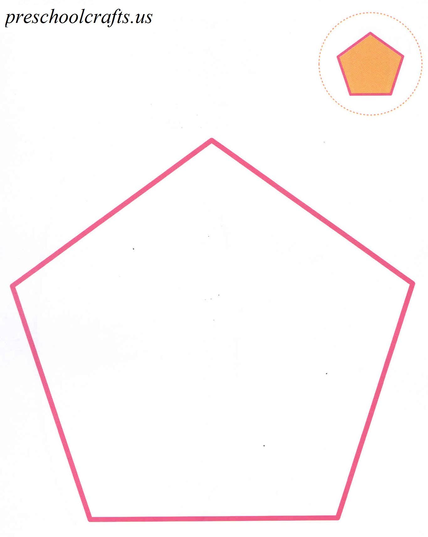 pentagon coloring page preschool crafts