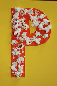 popcorn craft for letter p