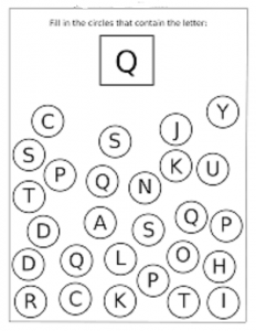 preschool letter q worksheet coloring