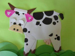 Preschool Paper Folding Activities For Cow