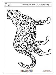 printable jaguar coloring pages for preschool