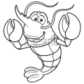 printable lobster coloring pages for preschool
