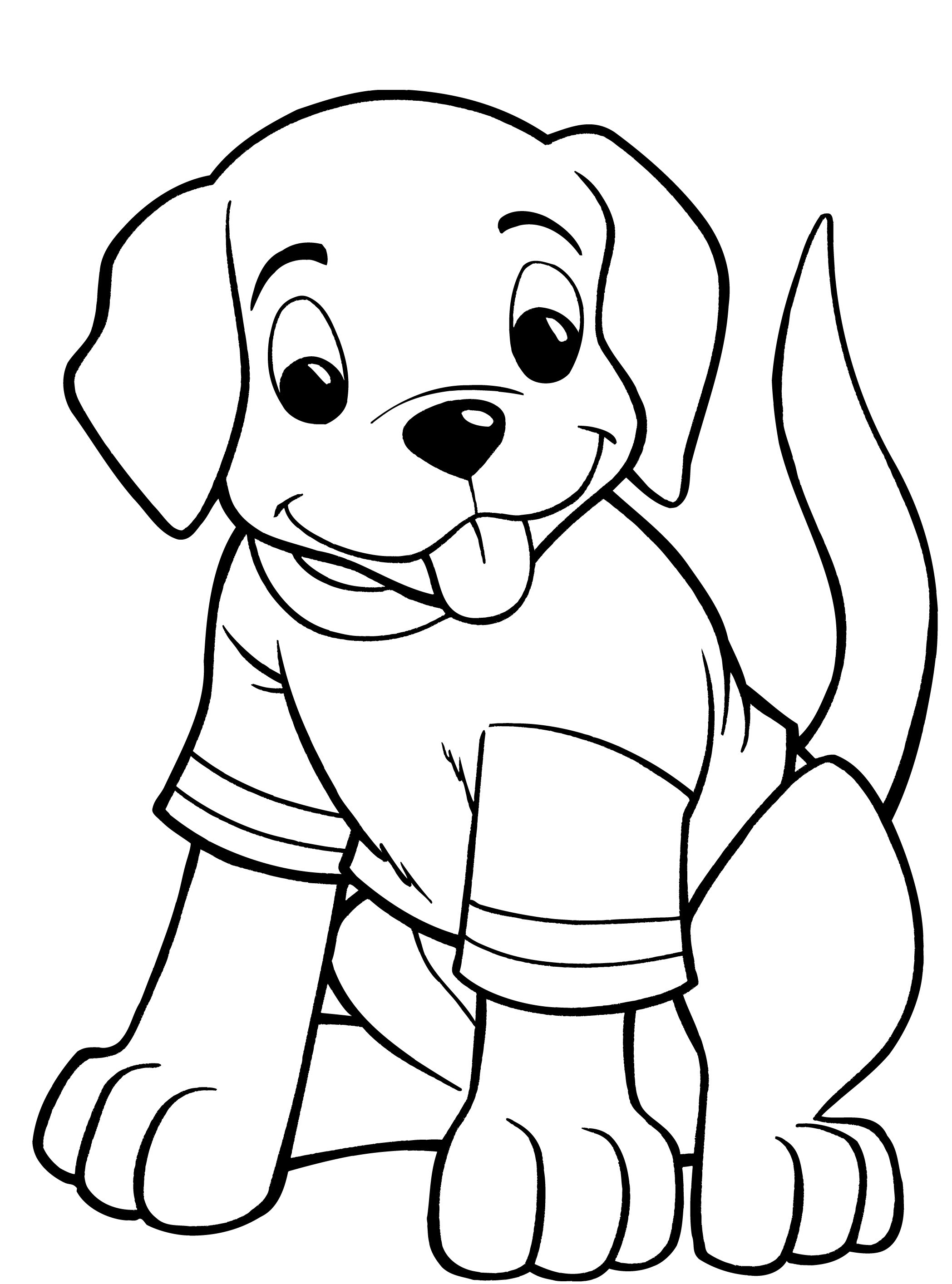 Dog coloring pages for kids preschool and kindergarten for Coloring pages of dogs