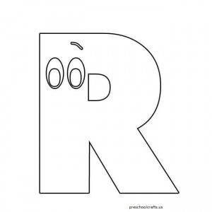 r coloring pages for preschool,