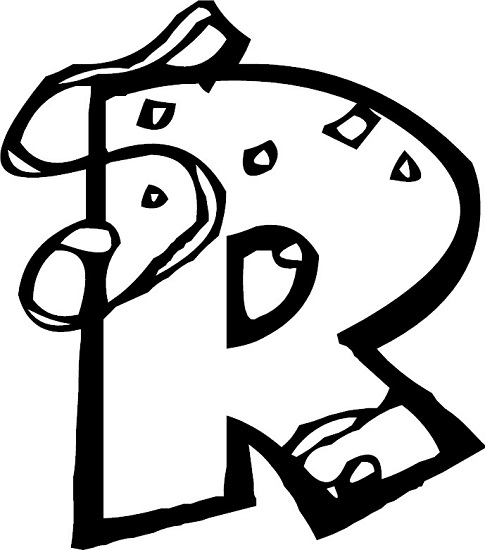 letter r coloring pages preschool - photo#15