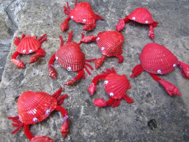 Sea Animal Crab Craft Idea on Seashell Animal Craft Idea For Kids