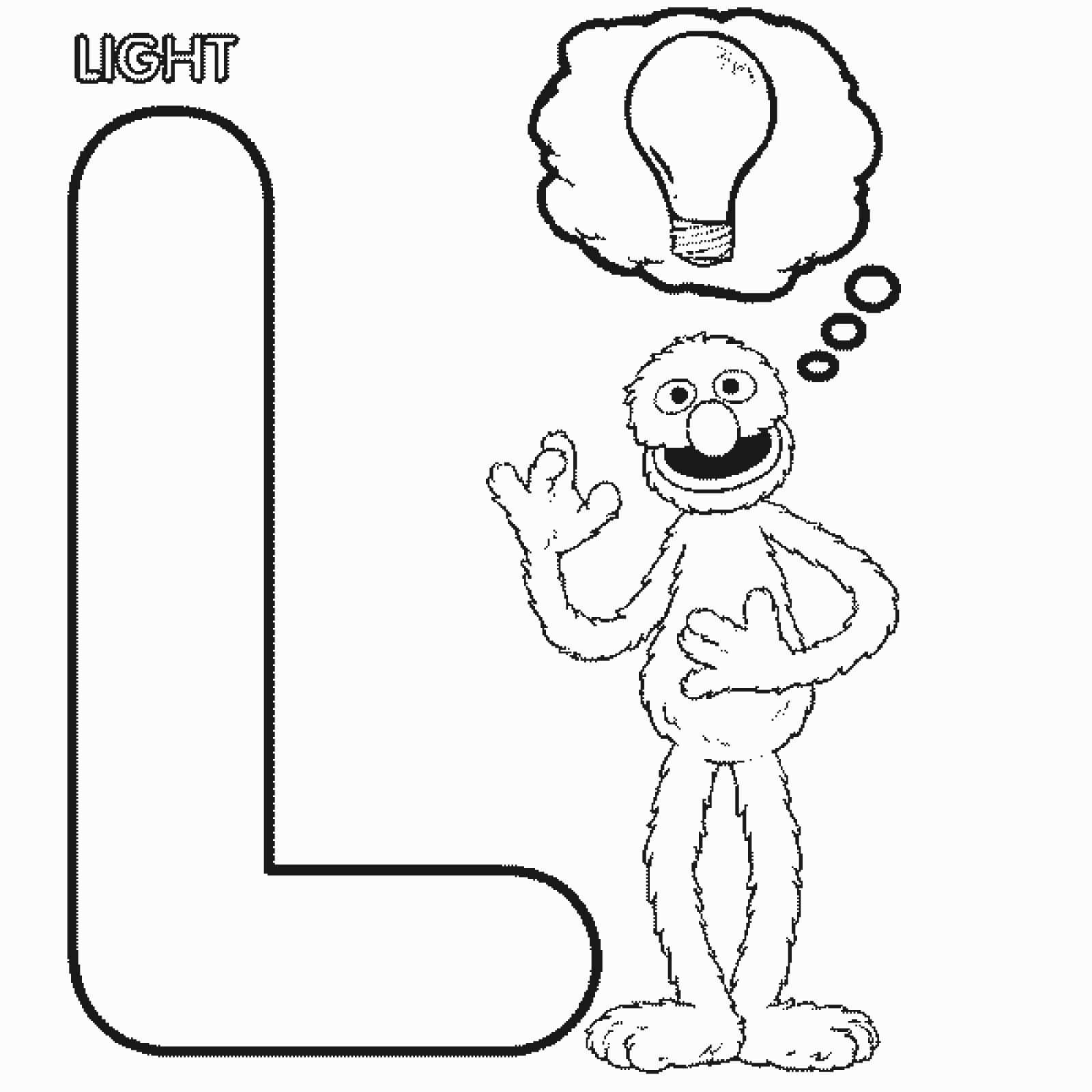 Sesame street coloring pages letters l preschool crafts for L coloring pages