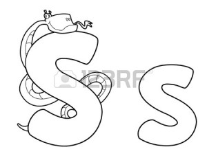 snake letter s coloring pages for kids, letter s coloring pages for preschool,