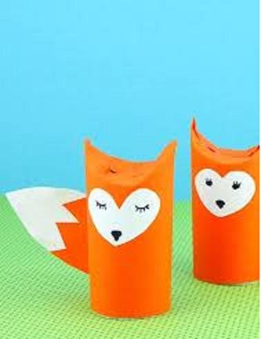 toilet roll fox craft activities