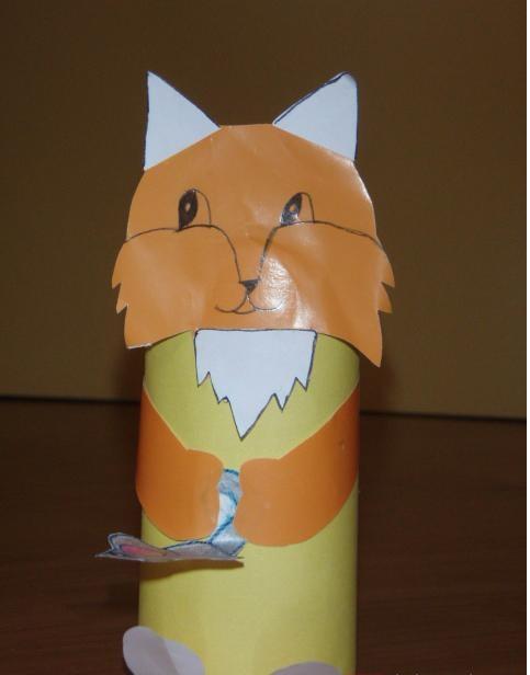 toilet roll fox craft idea