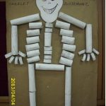 toilet rolls skeleton human body craft