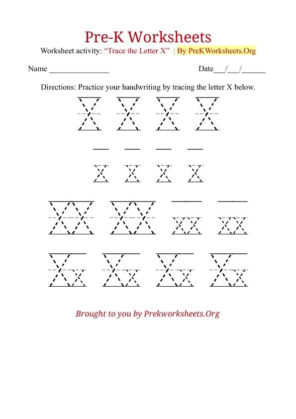 tracing letter x worksheets preschool crafts. Black Bedroom Furniture Sets. Home Design Ideas