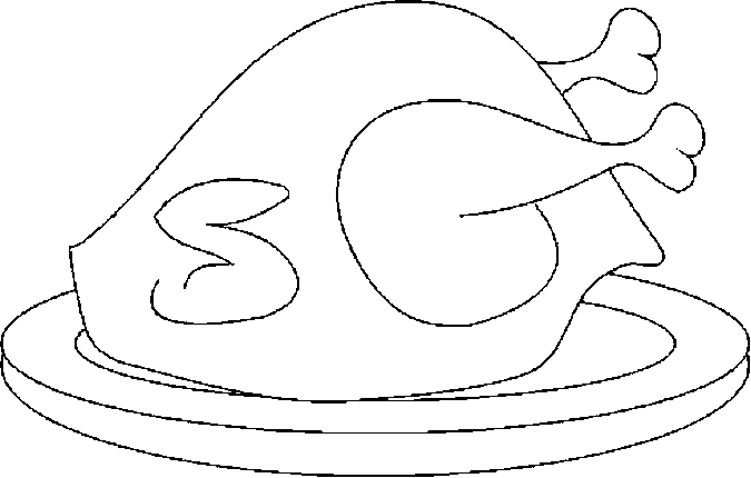 turkey cooked coloring pages