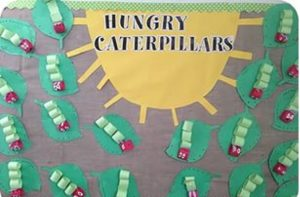 very hungry caterpillars craft idea