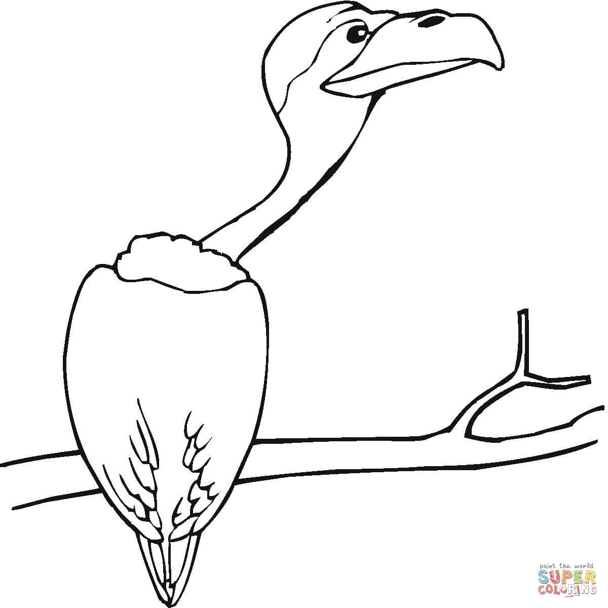 vulture-sitting-on-the-tree-coloring-page