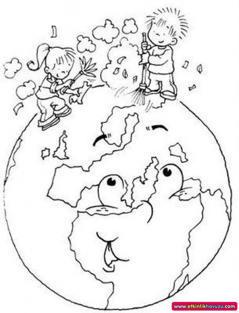 Coloring pages earth day -  World Earth Day Printable Coloring Pages For Preschool