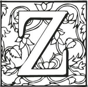 z alphabet kids coloring pictures printable