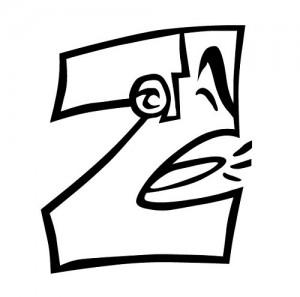 z letters coloringpages