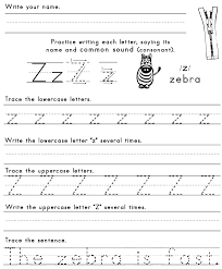z worksheets ideas for preschool
