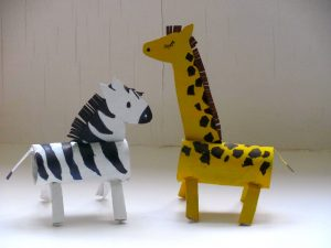 zebra craft for kindergarten