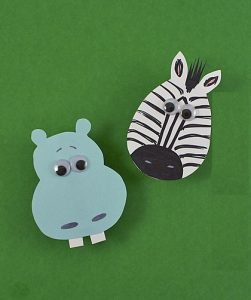 zebra magnet craft
