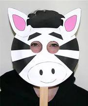 zebra mask craft for preschool