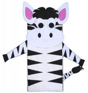 zebra plate craft for kids