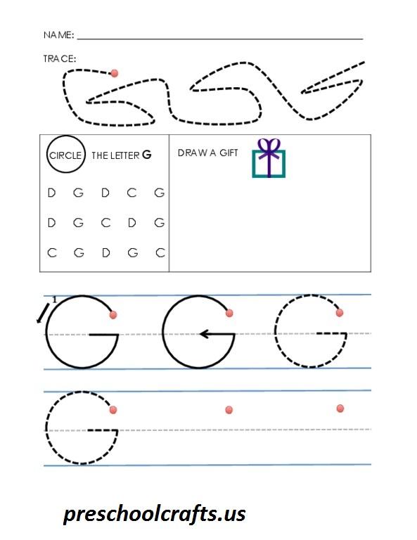 g worksheet preschool crafts. Black Bedroom Furniture Sets. Home Design Ideas