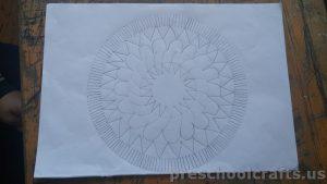 Mandala coloring page idea