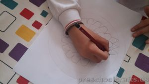 Mandala coloring page idea for kid