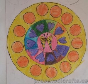 Mandala colouring pages ideas for kids