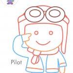 Pilot coloring pages
