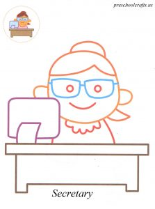 Secretary coloring pages