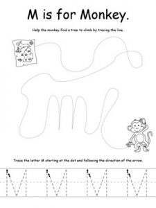 The-Letter-M-Tracing-Worksheets