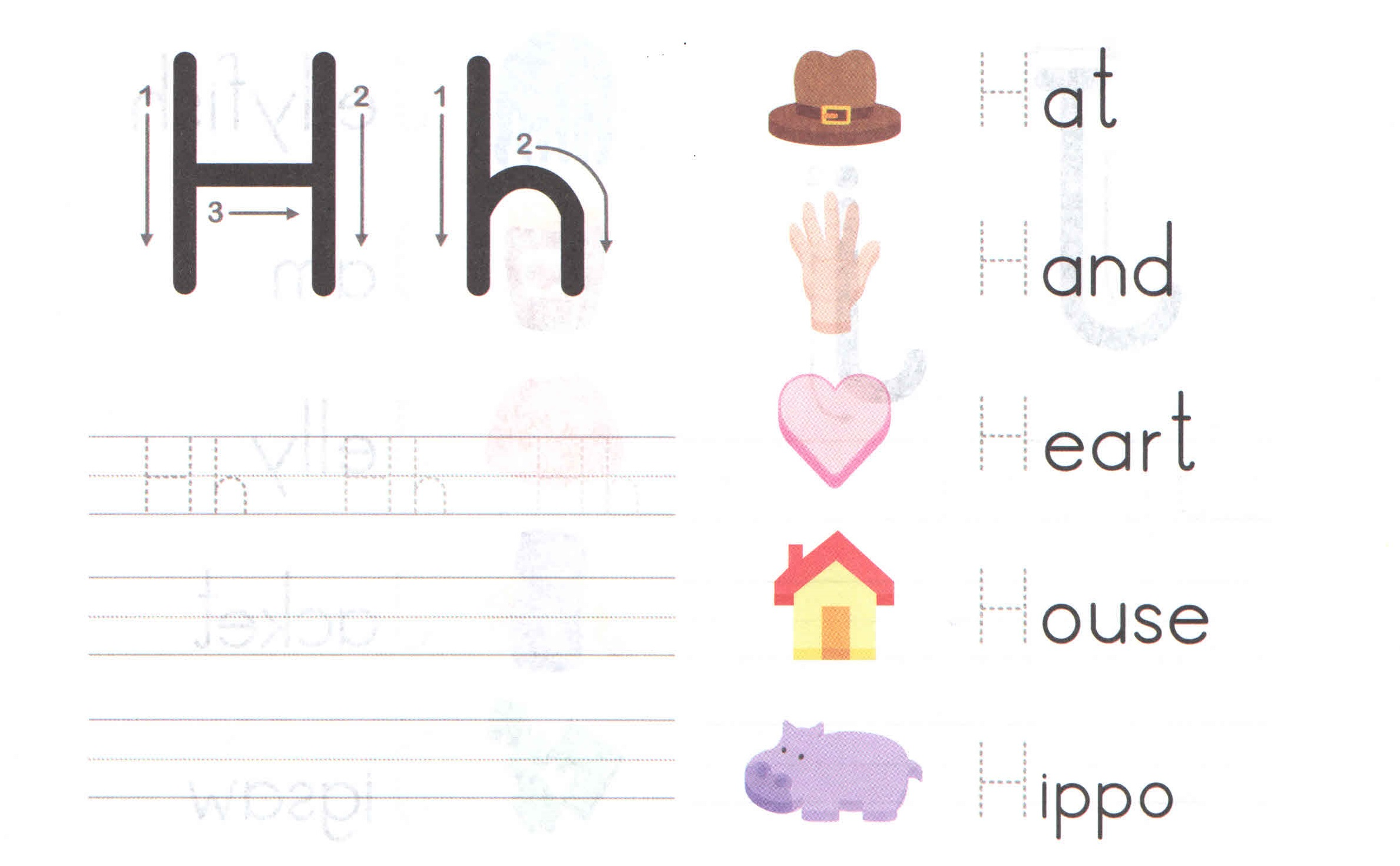 alphabet capital and small letter h h worksheet for kids preschool crafts. Black Bedroom Furniture Sets. Home Design Ideas