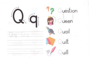 alphabet-capital-and-small-letter-Q-q-worksheet-for-kids