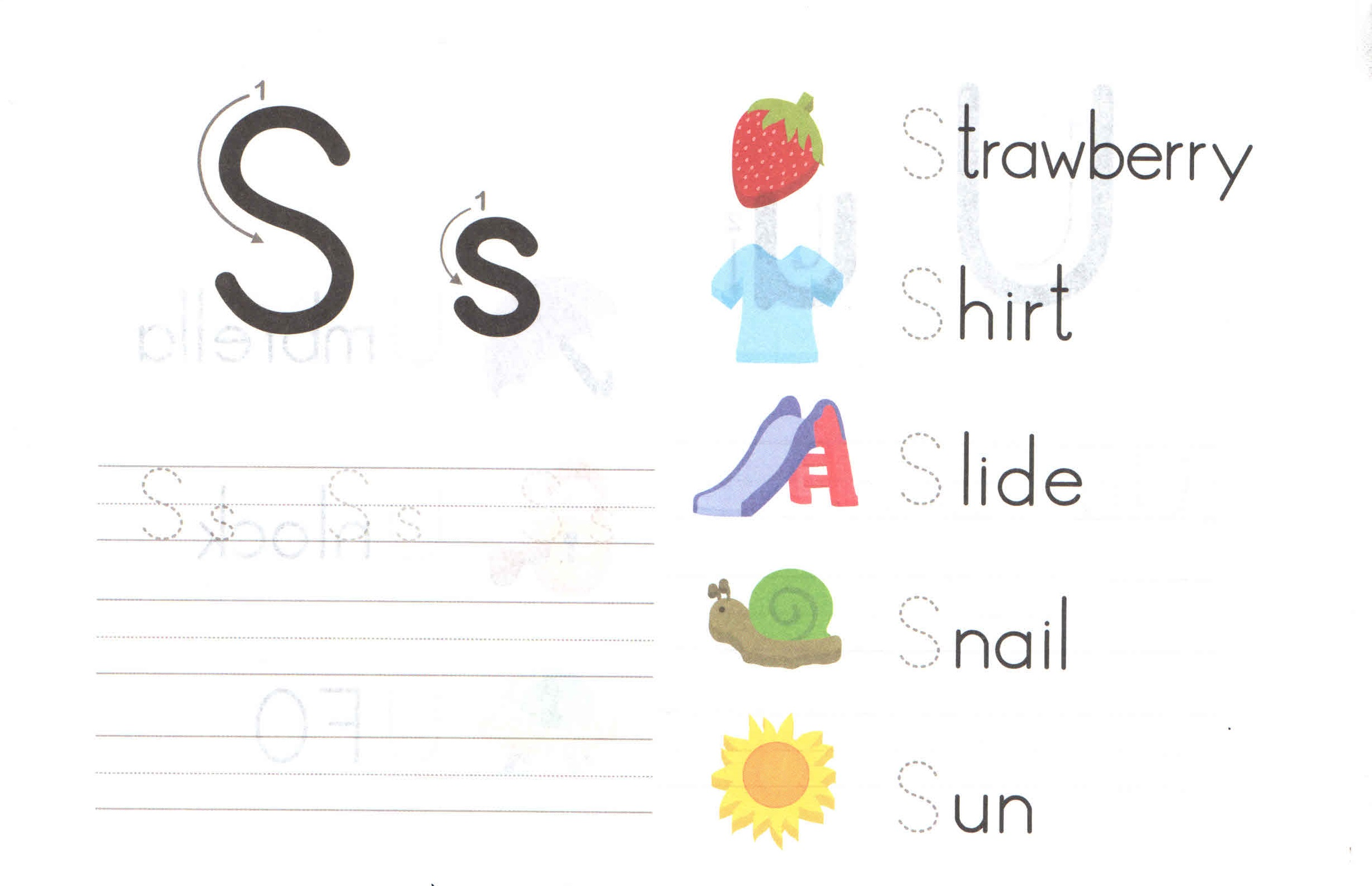 alphabet capital and small letter s s worksheet for kids preschool crafts. Black Bedroom Furniture Sets. Home Design Ideas