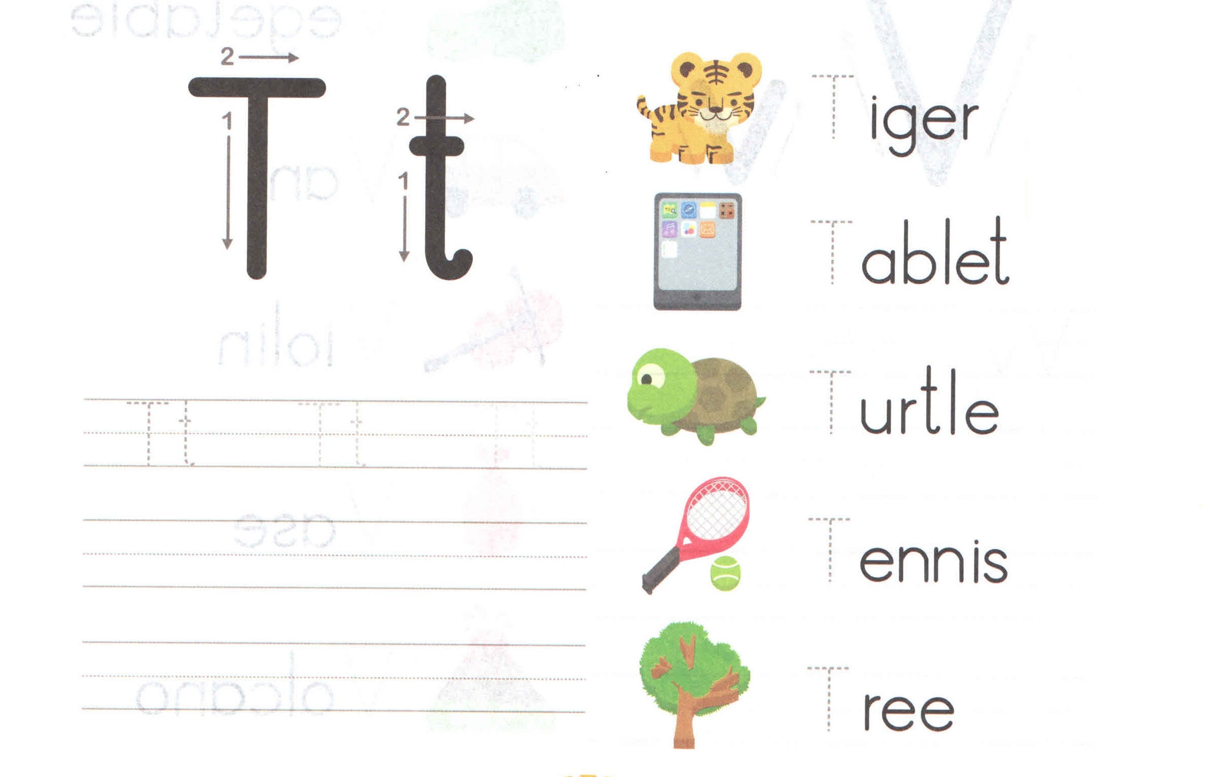 alphabetcapitalandsmallletterTtworksheetforkids – Letter T Worksheets
