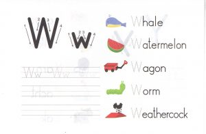 alphabet-capital-and-small-letter-W-w-worksheet-for-kids