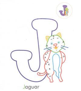 alphabet-letter-J-j-jaguar-coloring-page-for-preschool