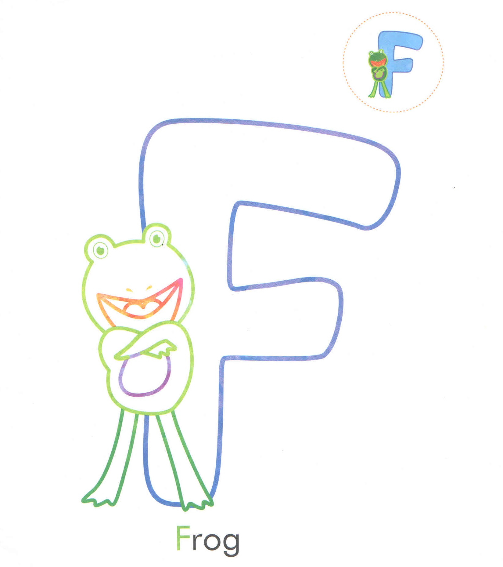 Coloring Site With Frog Print Out Free To F Is For Frog F Is For Frog F Is For Frog Coloring Page