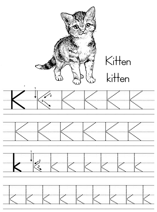 alphabetletterktracingworksheet Preschool Crafts – Letter K Worksheets for Preschoolers
