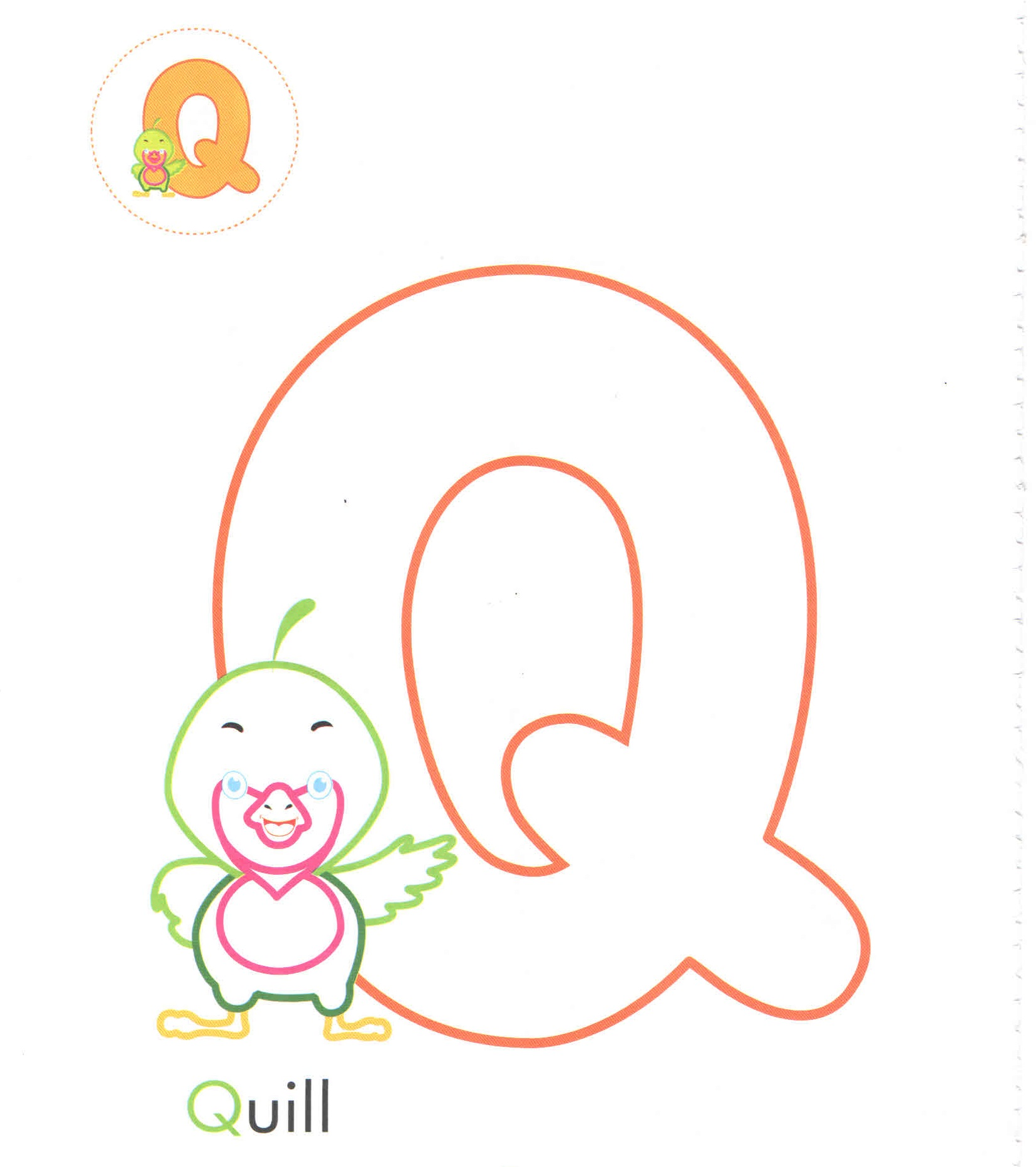 alphabet-letter-q-Q-quill-coloring-page-for-preschool ...