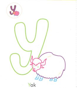 alphabet-letter-y-yak-coloring-page-for-preschool