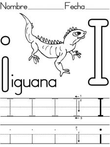 learning-to-write-letter-I-for-Iguana-coloring-page