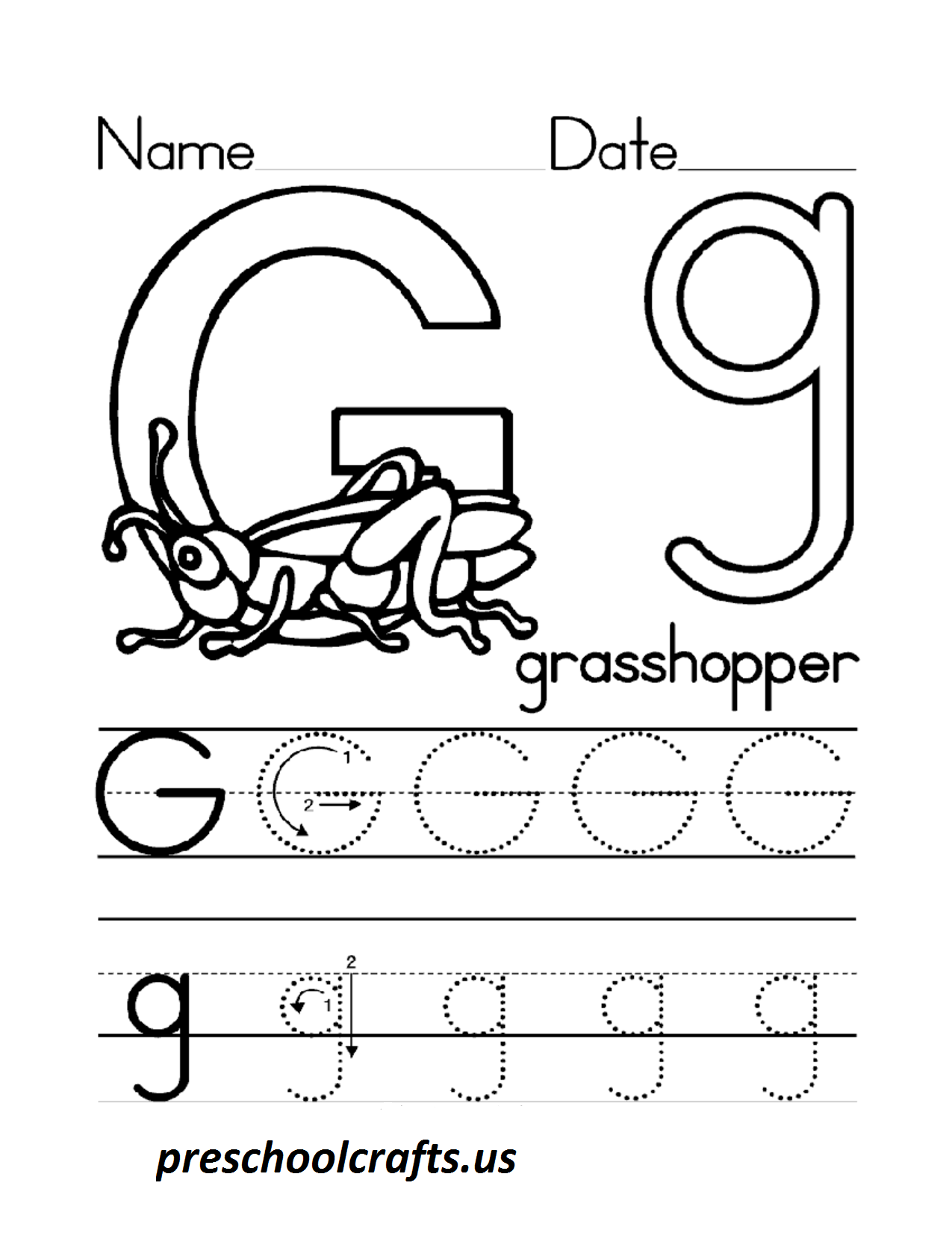 lettergworksheetsforpreschool Preschool Crafts – Letter G Worksheets for Preschool